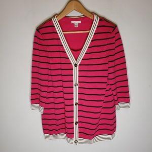 St. John Sport Pink Cardigan Sweater Set